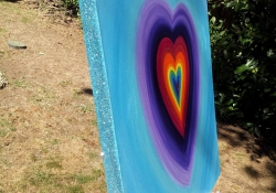 Rainbow Heart For Violet side view 2013