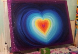 Hot Love, Chakra Painting Commission for Carole 2013